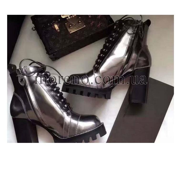 Ботинки LV глянцевые на каблуке f71ccfb559a
