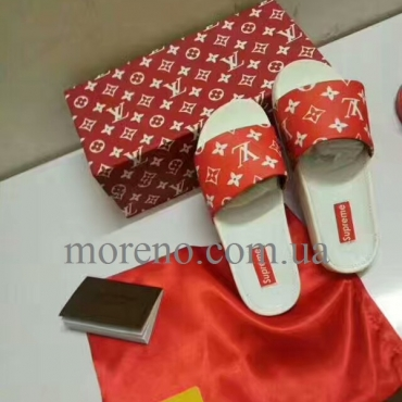 Шлепанцы Louis Vuitton Supreme