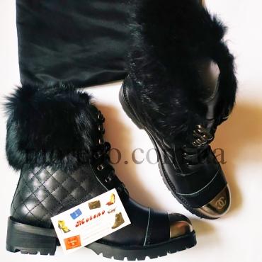 Ботинки на шнуровке с меховой отделкой 193cf36eb0d