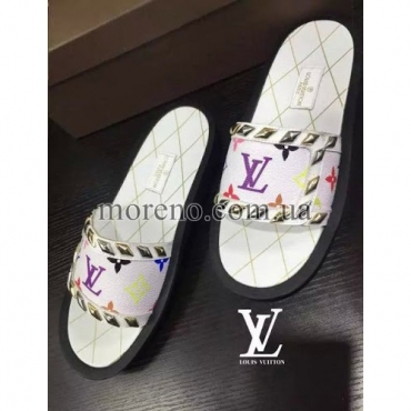 Шлепанцы Louis Vuitton white multicolor