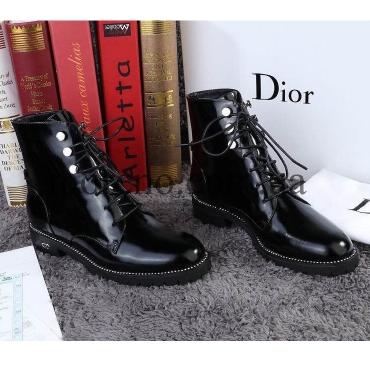 Ботинки Dior лаковые на шнуровке 5a917176b70