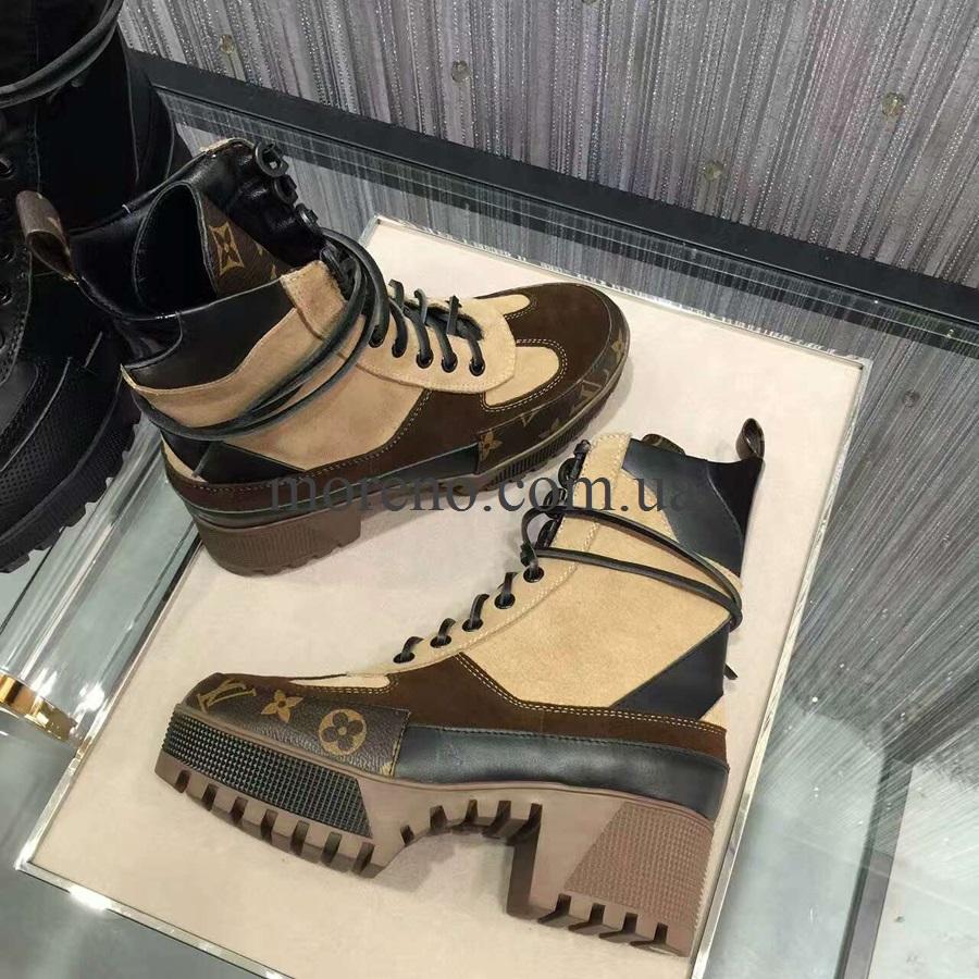 Высокие ботинки LV на шнуровке 49130045ff6