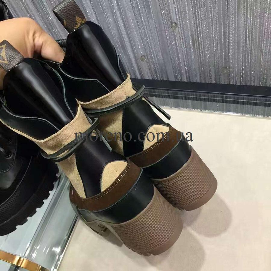 Высокие ботинки LV на шнуровке фото 1 ... 4802e30d592