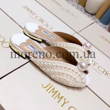 Шлепанцы Jimmy Choo с жемчугом