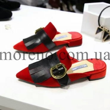 Slipper Prada red suede